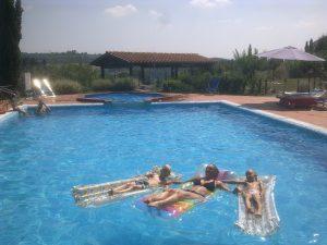 zwembad met kids