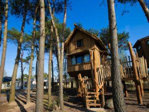 Kindercampings Nederland: een boomhut op Safari Resort Beekse Bergen